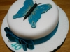 40th birthday cake made in Dorking, Surrey by Bluebell Cake Design