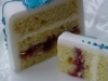 Vanilla sponge with raspberry jam & buttercream