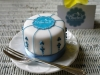 Minature cake with Bluebell Cake Design  edible logo