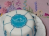 Minature Cake with logo by Dorking based Bluebell Cake Deign.