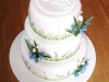 Bluebell & wild grasses cake with monogram