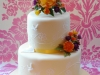 Bespoke, two tiered wedding cake made in Dorking by Bluebell Cake Design