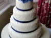 Four Tier Wedding Cake for wediing at The Mercure Hotel Burford Bridge in Surrey